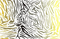 Tiger camouflage background with head Royalty Free Stock Photos