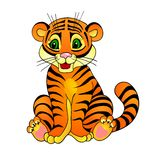 Tiger cartoon. With isolation on a white background Royalty Free Stock Images