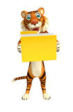 Tiger cartoon character with folder Stock Images