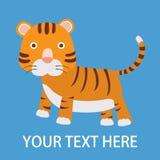 Tiger Cartoon diagram stock illustrationer