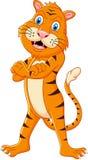 Tiger cartoon. Illustration of Tiger cartoon standing Stock Image