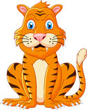 Tiger cartoon sitting Stock Images