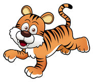 Tiger cartoon.Vector Stock Photo
