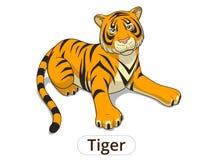 Tiger cartoon vector illustration Stock Image