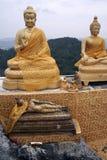 Tiger cave temple buddhas krabi mountains Thailand Royalty Free Stock Photo