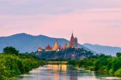 Tiger Cave Temple Kanchanaburi Province, Tailândia imagens de stock royalty free