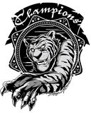 Tiger champions Royalty Free Stock Image