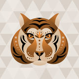Tiger. Chinese horoscope sign. Vector illustration in ethnic style vector illustration