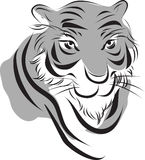 Tiger chinese ink painting. Simplify  chinese ink paint stye tiger Stock Photography