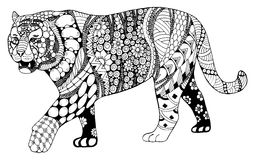 Tiger chinese zodiac sign zentangle stylized, vector, illustrati Stock Photo