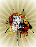 Tiger  composition Royalty Free Stock Photos