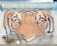 Tiger Country Welcome Sign, Memphis Tennessee imagen de archivo
