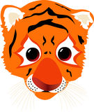 A Tiger Cub. Illustration of tiger cub's head Stock Photo