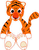 Tiger Cub. The illustration of tiger cub Royalty Free Stock Images