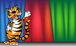 Tiger - curtain Royalty Free Stock Photography