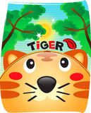 Tiger cute in wild background. Stock Image