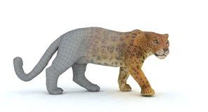 Tiger 3d übertragen Lizenzfreie Stockfotos