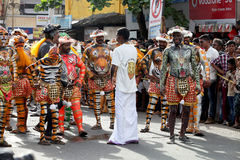Tiger dance procession stock image