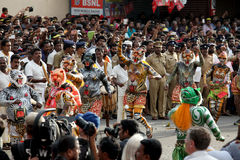 Tiger dance procession royalty free stock image