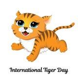 Tiger Day internacional Imagem de Stock Royalty Free