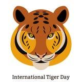 Tiger Day international 29 juillet Le mammifère sauvage est un animal Type de dessin animé Photographie stock libre de droits