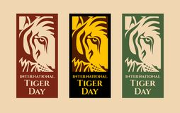 Tiger Day internazionale illustrazione vettoriale
