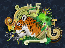 Tiger Design Stock Photography