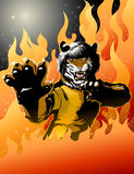 Tiger. This design is from a legendary kung fu master in form of a great tiger Stock Photo