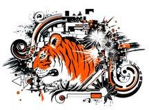 Tiger Design, Orange Royalty Free Stock Photography