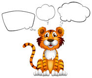 A tiger with empty callouts Royalty Free Stock Photo