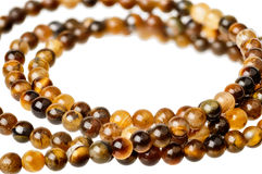 Tiger eye beads Royalty Free Stock Photos