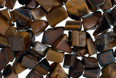 Tiger eye gravel necklace and bracelet beads Royalty Free Stock Images