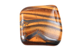 Tiger eye isolated. On the white background royalty free stock photo
