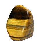 Tiger Eye mineral - macro isolated on white background Royalty Free Stock Photo