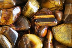 Tiger Eye Mineral Texture Royalty Free Stock Photography