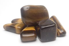 Tiger Eye Semiprecious Gemston Royalty Free Stock Photos