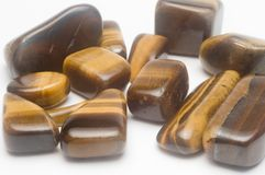 Tiger Eye Semiprecious Gemston Stock Images