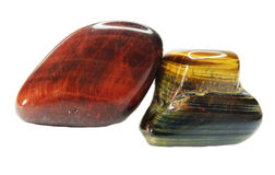 Tiger eye semiprecious mineral geological crystal Stock Photos