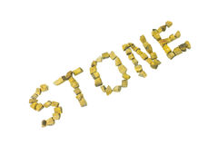 Tiger eye stone Stock Images