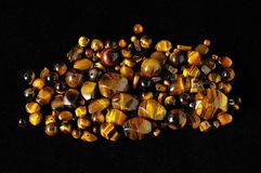Tiger Eye Stones Photo libre de droits