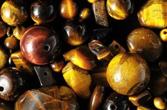 Tiger Eye Stones Photographie stock libre de droits