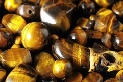 Tiger Eye Stones Photographie stock libre de droits