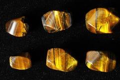 Tiger Eye Stones Royaltyfri Bild
