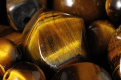 Tiger Eye Stones Fotografia de Stock Royalty Free
