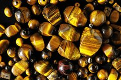 Tiger Eye Stones Fotografia de Stock