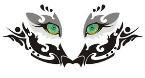 Tiger eyes. Vector eyes of a white tiger Royalty Free Stock Photos