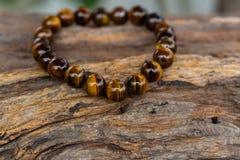 Tiger Eyes Stone Bracelet Royaltyfri Bild
