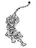 tiger för 3 tatuering stock illustrationer