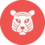 Tiger Face Image stock