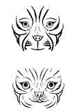 Tiger face. A illustration of tiger face images Royalty Free Stock Images